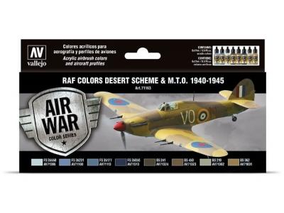 "Набор красок RAF Colors ""Desert Scheme & M.T.O. 1940-1945"" для аэрографа, 71.163"