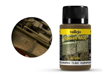 Vallejo Weathering European Splash Mud, 73.801, брызги грязи Ц. Европы, 40 мл