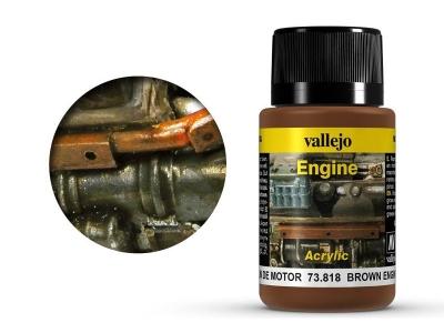 "Vallejo Brown Engine Soot, 73.818, коричневая ""копоть"", 40 мл"