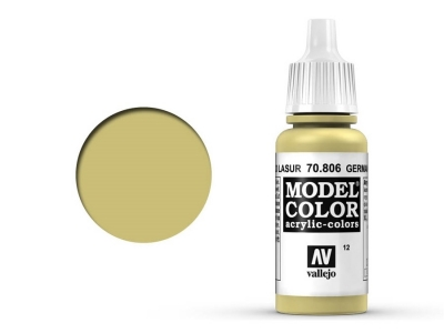 Vallejo Model Color, 70.806, German Yellow, Немецкий жёлтый, 17 мл