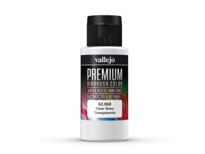 Vallejo Premium Clear Base, 62.068, Прозрачное связующее, 60 мл