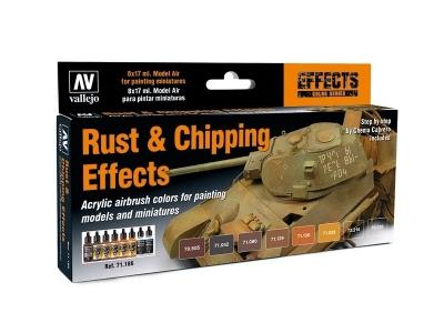 Набор красок Vallejo Rust & Chipping Effects для аэрографа, 71.186