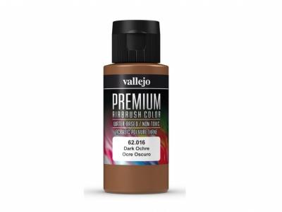 Vallejo Premium AirBrush Color, 62.016, Тёмная Охра, 60 мл