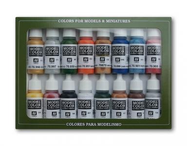 Набор красок Folkstone Basics для кисти, 70.101