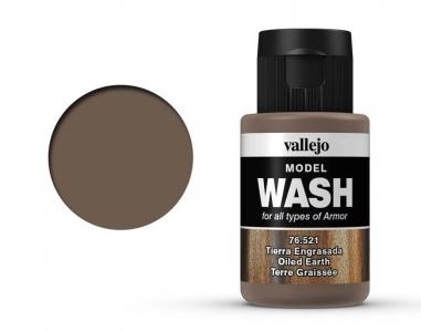 Vallejo Model Wash, 76.521, Проливка Следы масла и земляной пыли, 35 мл