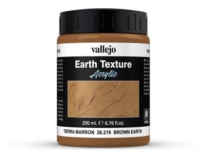 Vallejo Diorama Effects Brown Earth, 26.219, коричневая глинистая земля, 200 мл