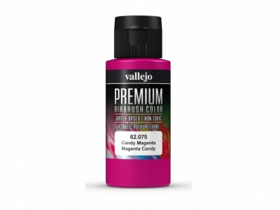 Vallejo Premium AirBrush Color, 62.075, Маджента кэнди, 60 мл