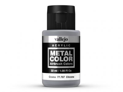 Vallejo Metal Color, 77.707, Металлик Хром, 32 мл