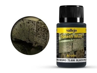 Vallejo Weathering Black Splash Mud, 73.806, брызги грязи Северной Европы, 40 мл