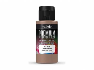 Vallejo Premium AirBrush Color, 62.078, Коричневый кэнди, 60 мл