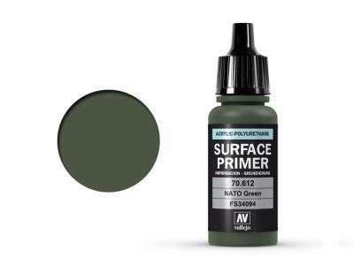 Vallejo Surface Primer, 70.612, Зелёный грунт для техники стран НАТО, 17 мл