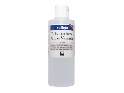 Vallejo Polyurethane Gloss Varnish, 27.650, Глянцевый лак, 200 мл