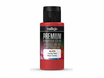 Vallejo Premium AirBrush Color, 62.074, Красный кэнди, 60 мл