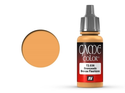 Vallejo Game Color, 72.036, Bronze Flesh Tone, Бронзовый загар, 17 мл