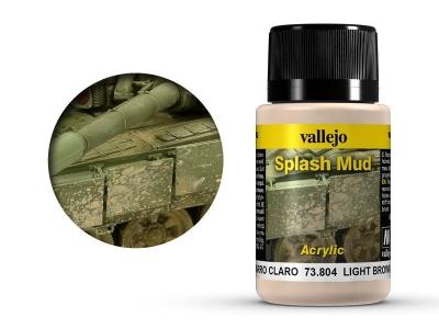 Vallejo Weathering Light Brown Splash Mud, 73.804, брызги песчаных почв, 40 мл