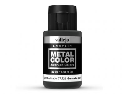 Vallejo Metal Color, 77.720, Металлик Тёмно-серый, 32 мл
