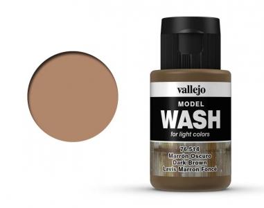 Vallejo Model Wash, 76.514, Проливка Тёмно-коричневая, 35 мл