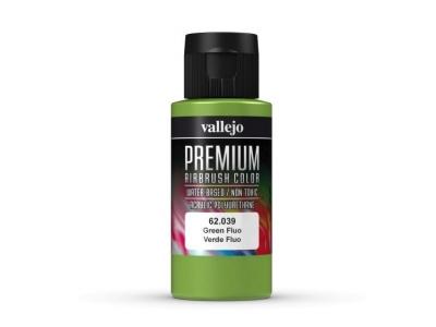 Vallejo Premium AirBrush Color, 62.039, Зелёный Флюр, 60 мл