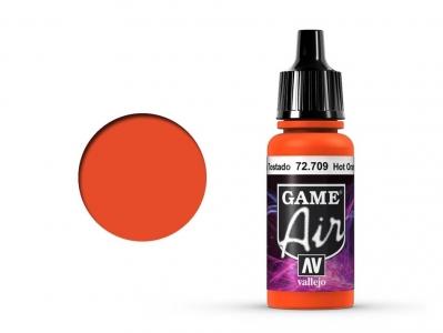 Vallejo Game Air, 72.709, Hot Orange, Ярко-рыжий, 17 мл