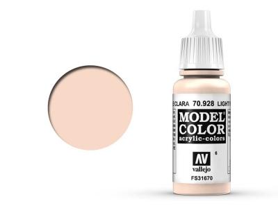 Vallejo Model Color, 70.928, Light Flesh, Телесный светлый, 17 мл