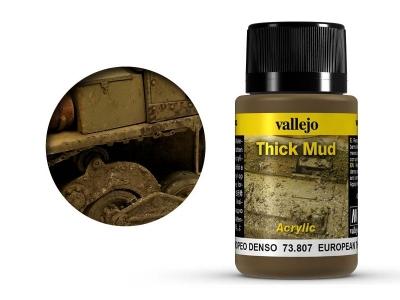 Vallejo Weathering European Thick Mud, 73.807, густая грязь Ц. Европы, 40 мл