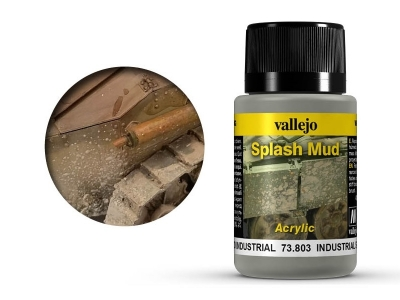 Vallejo Weathering Industrial Splash Mud, 73.803, брызги городской грязи, 40 мл