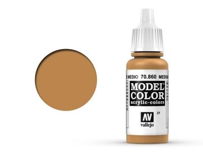 Vallejo Model Color, 70.860, Medium Skin Tone, Средний телесный цвет, 17 мл