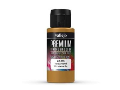 Vallejo Premium AirBrush Color, 62.015, Жёлтая Охра, 60 мл