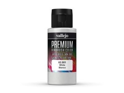 Vallejo Premium AirBrush Color, 62.001, Белая, 60 мл