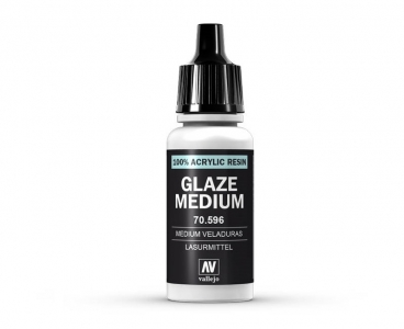 Vallejo Glaze Medium, 70.596, Глазурный медиум, 17 мл