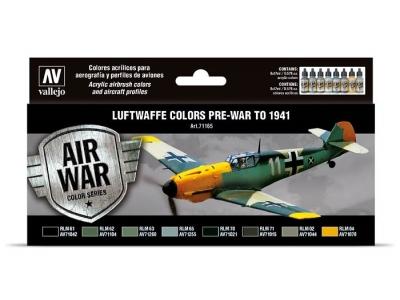 Набор красок Luftwaffe Colors pre-war to 1941 для аэрографа, 71.165