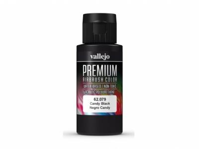 Vallejo Premium AirBrush Color, 62.079, Чёрный кэнди, 60 мл