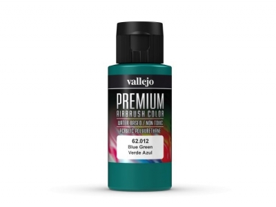 Vallejo Premium AirBrush Color, 62.012, Сине-зелёная, 60 мл