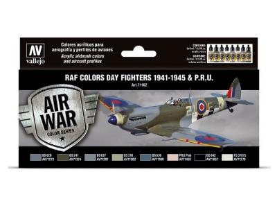 "Набор красок RAF Colors ""Day Fighters 1941-1945 & P.R.U."" для аэрографа, 71.162"