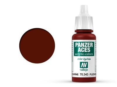 Vallejo Panzer Aces, 70.343, Flesh Shadows, Телесная для затемнения, 17 мл