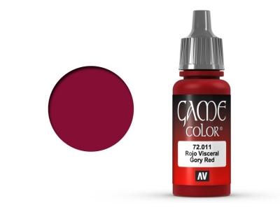 Vallejo Game Color, 72.011, Gory Red, Цвет запёкшейся крови, 17 мл