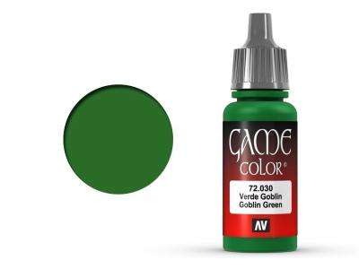 Vallejo Game Color, 72.030, Goblin Green, Цвет зелёного гоблина, 17 мл