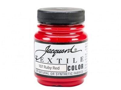 Jacquard Textile Color, JAC107, Рубиновая, 67 мл
