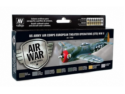 Набор красок US Army Air Corps ETO WWII для аэрографа, 71.182