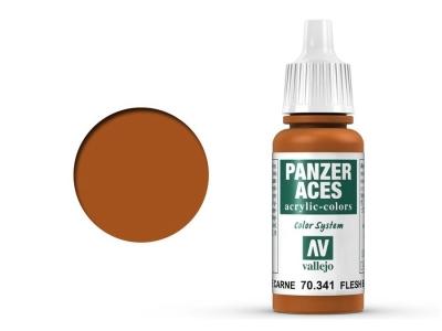 Vallejo Panzer Aces 70.341, Flesh Base, Телесная базовая, 17 мл