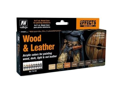 Набор красок Wood & Leather для кисти, 70.182