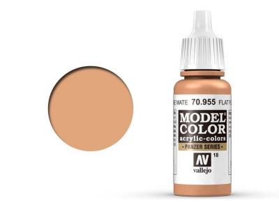 Vallejo Model Color, 70.955, Flat Flesh, Телесный, 17 мл