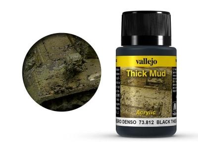 Vallejo Weathering Black Thick Mud, 73.812, густая грязь Северной Европы, 40 мл