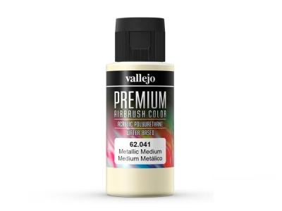 Vallejo Premium Metal Medium, 62.041, Металлический медиум, 60 мл