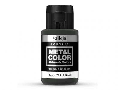 Vallejo Metal Color, 77.712, Металлик Сталь, 32 мл