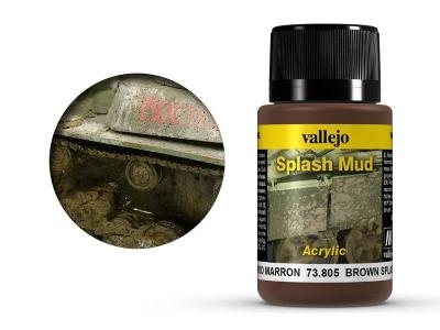 Vallejo Weathering Brown Splash Mud, 73.805, брызги грязи З. Европы, 40 мл