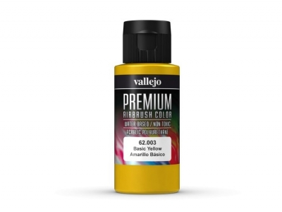 Vallejo Premium AirBrush Color, 62.003, Жёлтая, 60 мл