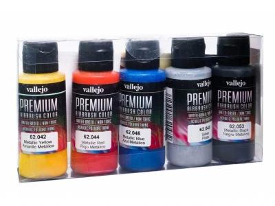 Набор красок Metallics Set для аэрографа, 62.103