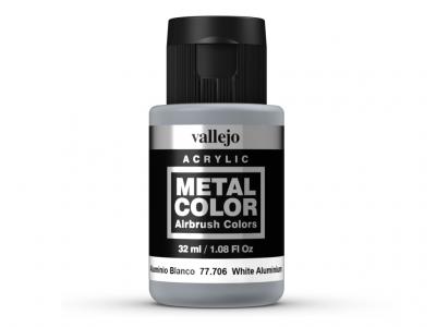 Vallejo Metal Color, 77.706, Металлик Белый алюминий, 32 мл