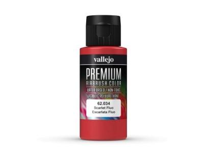 Vallejo Premium AirBrush Color, 62.034, Алый Флюр, 60 мл